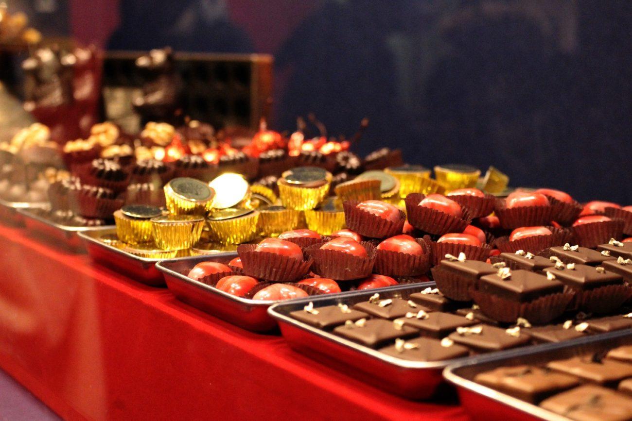 スイーツ展に展示されているチョコレート